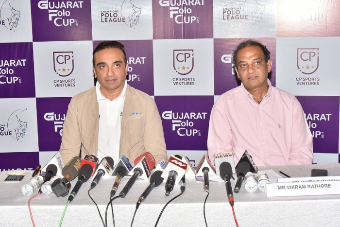 (L-R) Mr. Chirag Parekh, Founder, Champions Polo League and Chairman and Managing Director, Acrysil Group and Mr. Vikram Rathore, Polo Veteran